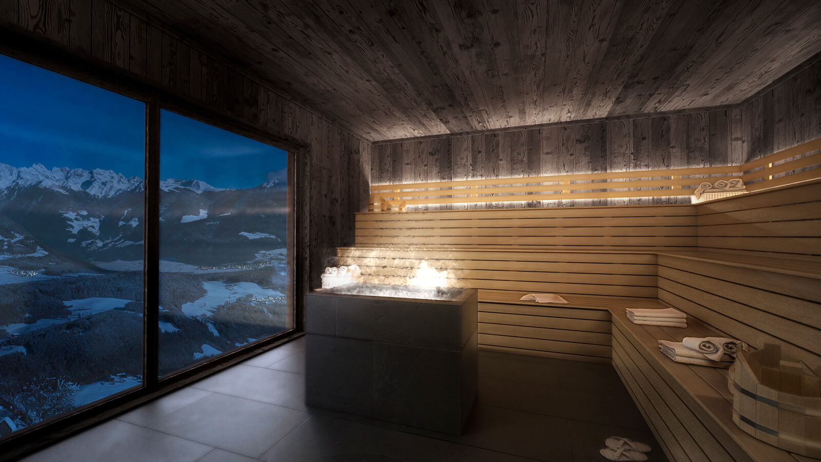 Sauna with a view to Reischach and surroundings